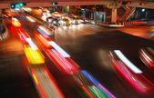 Traffico velocità notte — Foto Stock