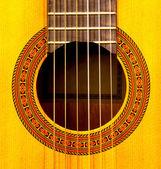 Close-up della buca della chitarra classica — Foto Stock