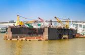 Cargo crane at shipyard in Bangkok — Stock Photo