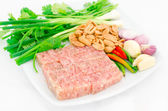 Fermented ground pork (Nham) — Stock Photo
