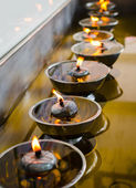 Buddish oil lamp — Stockfoto