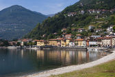 Domaso a city by the lake of como in Italy — Foto Stock