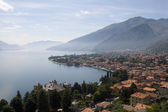 A city by the lake of como in Italy — Stockfoto