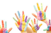 Colorful Hands — Stock Photo