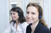 Female customer service — Stock Photo