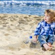Royalty-Free Stock Photo: A nice boy on the beach