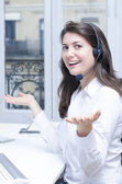 Female customer service — Stock Photo