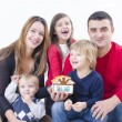 Happy Family in a new house — Stockfoto