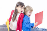 Two astonished kids — Stock Photo