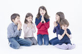 Children Pray — Stock Photo