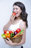One Girl at Diet — Stock Photo
