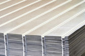 Stack of corrugated steel sheet — Stock Photo