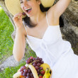 Picnic with Fruit — Stock Photo