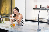 Coffee in New Kitchen — Stock Photo