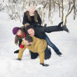 Playing in Snow — Stockfoto