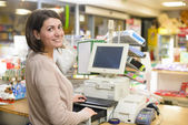 Happy Cashier — Stockfoto