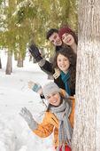 雪で遊ぶ — ストック写真