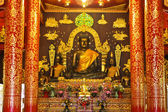 Buddha image in the north of Thai temple — Stock Photo