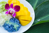 Mango with sticky rice — Stock Photo