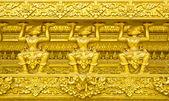 Traditionellen thai-stil stuck der tempel-wänden — Stockfoto