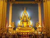 The principle Buddha image at marble temple ,Thailand — Stockfoto