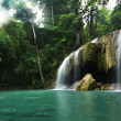 Stock Photo: Waterfall in tropical forest