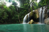 Waterfall in tropical forest — Stock Photo