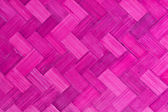 Weave bamboo texture pink color — Stock Photo