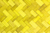 Weave bamboo texture yellow color — Stock Photo