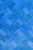 Weave bamboo texture blue color — Stock Photo
