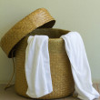 Stock Photo: Used Towels in Basket