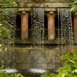 Exotic artificial waterfall in Ocean Park, Hongkong. — Stock Photo