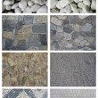 Set of pebble used for covering floors, paths, walkways. — Stock Photo #13193559