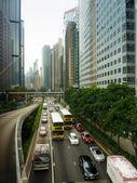 Gonkong улицы и трафик. — Стоковое фото