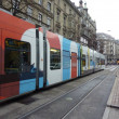 Royalty-Free Stock Photo: Colorful tram in Zurich.