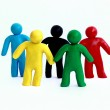 Union of several of different races — Stock Photo #12020932