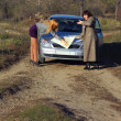 Two women looking at road map — Stock Photo #15798575