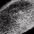Royalty-Free Stock Photo: Black and white fingerprint