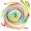 colorful spiral — Stock Photo