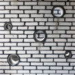 Brick wall as background - Stok fotoğraf
