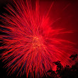 Beautiful fireworks at night — Stock Photo