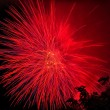 Beautiful fireworks at night — Stockfoto