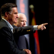 Foto de Stock  : Mitt Romney and Senator John McCain appear at town hall meetin
