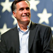 Mitt Romney appears at a town hall meeting in Mesa, AZ. — Stock Photo