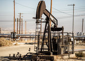 Pumping oil in Kern County, California — Stok fotoğraf