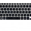 Black keyboard — Stock Photo