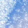 Elegant Christmas background with snowflakes and place for text. — Stock Photo