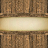 Paper on wood background or texture — Stock Photo