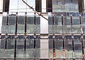 Office bilding under construction — Stock Photo