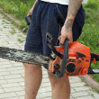 Woodworker With Chain Saw — Stock Photo #12668174